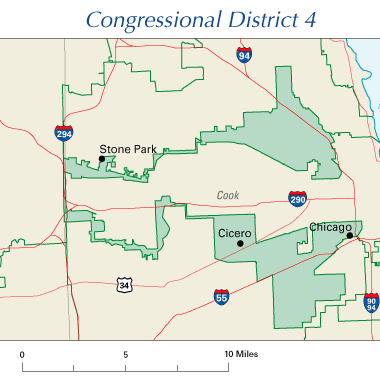 Illinois Congressional District 4 map